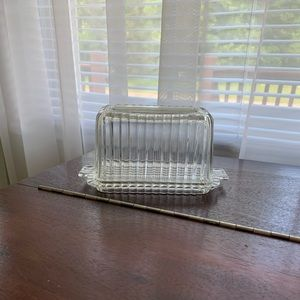 Vintage Glass Cheese Box
